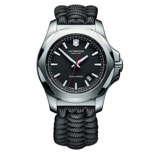 Victorinox I.N.O.X. Paracord Men's Black Textile Strap Watch - Product number 5838398