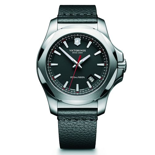 Victorinox I.N.O.X. Men's Black Leather Strap Watch - Product number 5838452