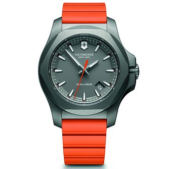 Victorinox I.N.O.X. Titanium Men's Orange Rubber Strap Watch - Product number 5838533