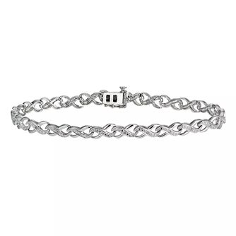 Sterling Silver & Diamond Bracelet - Product number 5839424