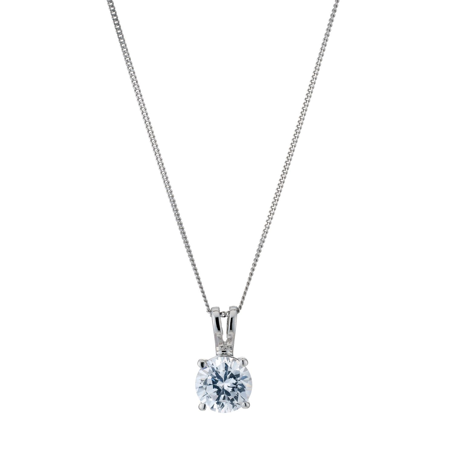 18ct White Gold 1ct F/G Vs2 Diamond Pendant - Product number 5840295