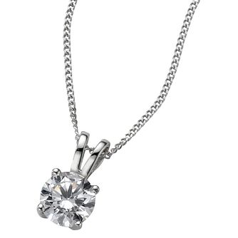 18ct White Gold 0.66ct F/G Vs2 Diamond Pendant - Product number 5840325