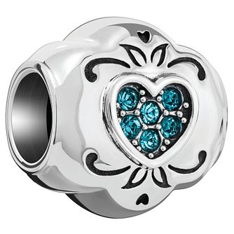 Chamilia Love Heart Blue Swarovski Charm - Product number 5845912