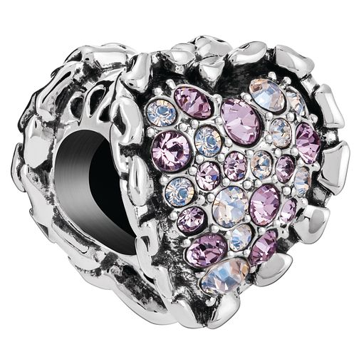 Chamilia Ruffled Heart Charm with Swarovski Crystal - Product number 5845920