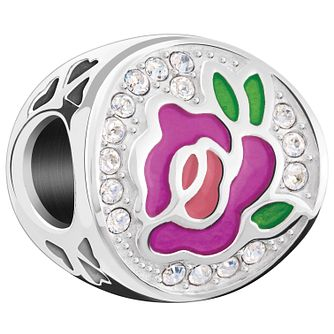 Chamilia Sterling Silver Swarovski Perfect Rose Charm - Product number 5846145