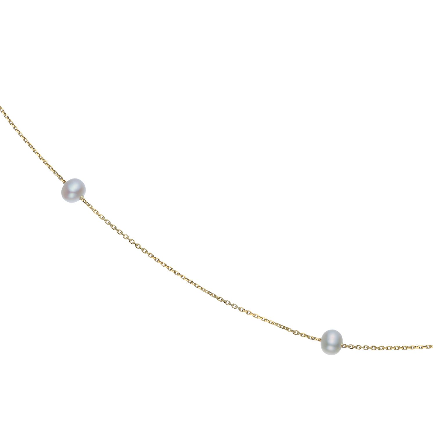 9ct Yellow Gold Cultured Freshwater Pearl Necklace - Product number 5850266