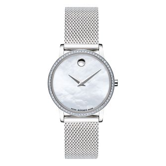 Movado Museum Ladies' Stainless Steel Mesh Bracelet Watch - Product number 5851491