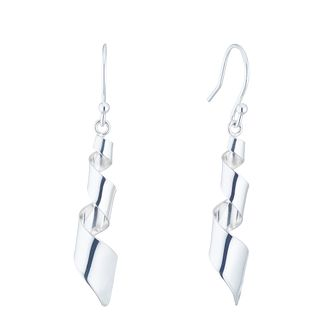 Silver Spiral Twist Drop Earrings - Product number 5853583