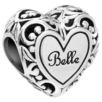 Chamilia Sterling Silver Disney Belle's Heart Bead - Product number 5853893