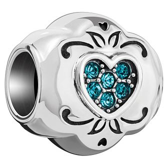 Chamilia Sterling Silver Blue Love Heart Bead - Product number 5853915