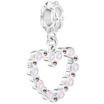 Chamilia Sterling Silver Crystal Open Heart Charm - Product number 5853931