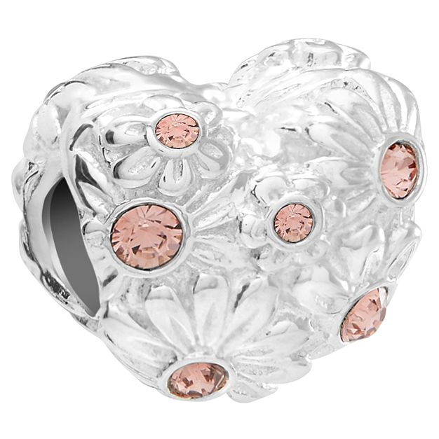 Chamilia Sterling Silver Zinnia Heart Rose Bead - Product number 5853966