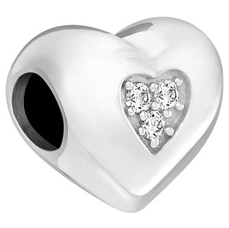 Chamilia Sterling Silver Swarovksi Heart Bead - Product number 5853974