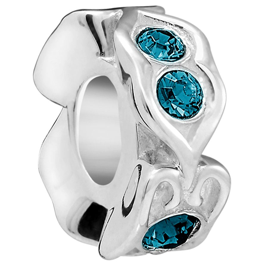 Chamilia Sterling Silver Blue Spacer Bead - Product number 5854075