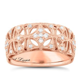Neil Lane Designs 14ct Rose Gold 0.16ct Diamond Vintage Band - Product number 5857074