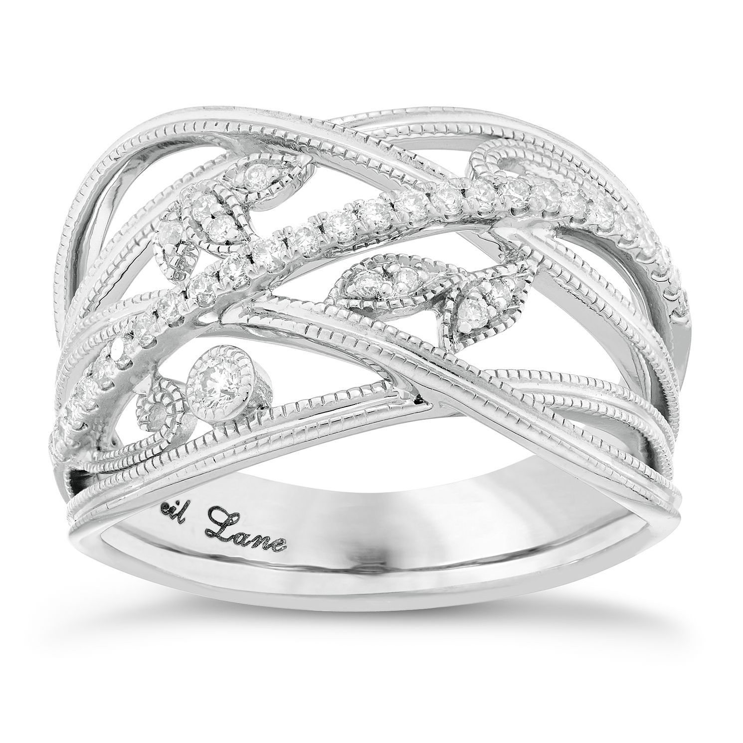 Neil Lane Designs 14ct White Gold 1/5ct Diamond Leaf Band - Product number 5857201