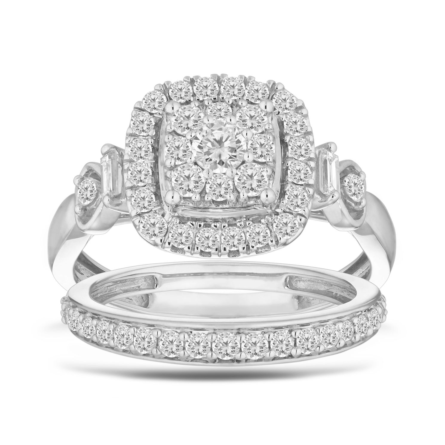Perfect Fit 9ct White Gold 0.80ct Total Diamond Bridal Set - Product number 5861543