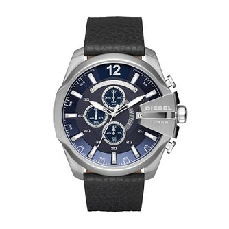 Diesel Men's Black Leather Strap Watch - Product number 5862973