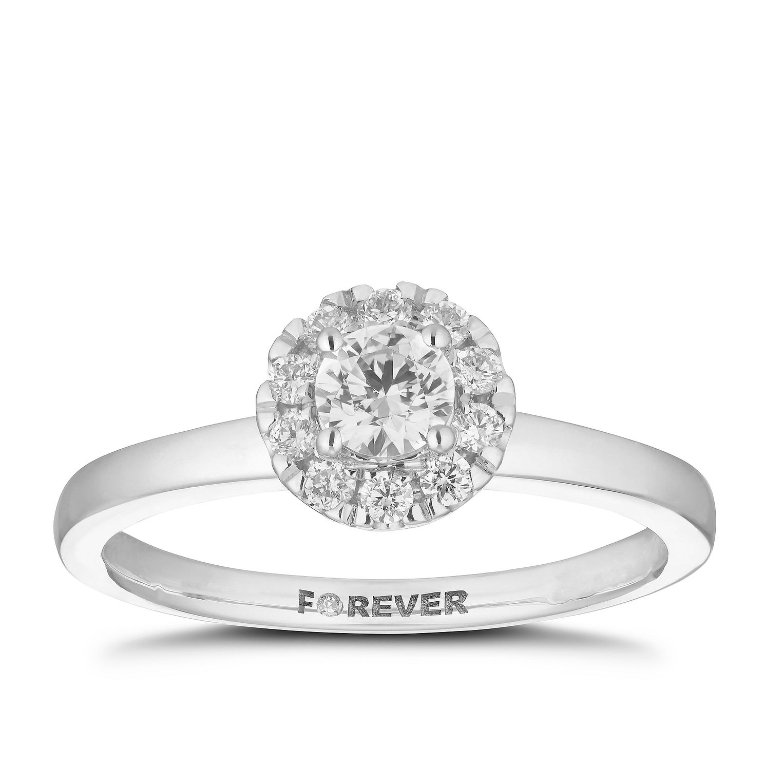 18ct White Gold 2/5ct Forever Diamond Ring - Product number 5863163