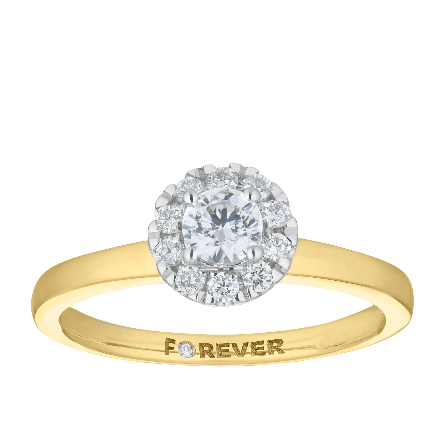 The Forever Diamond 18ct Yellow Gold 0.40ct Total Ring - Product number 5863414