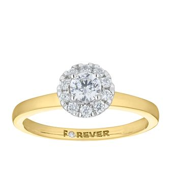 18ct Yellow Gold 2/5ct Forever Diamond Ring - Product number 5863414