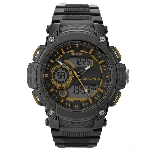Sekonda Men's Chronograph Black Resin Watch - Product number 5865824