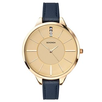 Sekonda Seksy Ladies' Navy Blue Leather Strap Watch - Product number 5865964