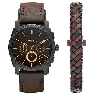 Fossil Men's Brown Leather Strap Watch - Product number 5866014