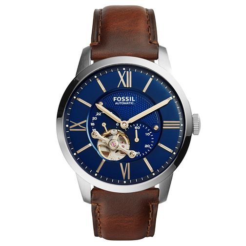 Fossil Men's Brown Leather Strap Watch - Product number 5866030
