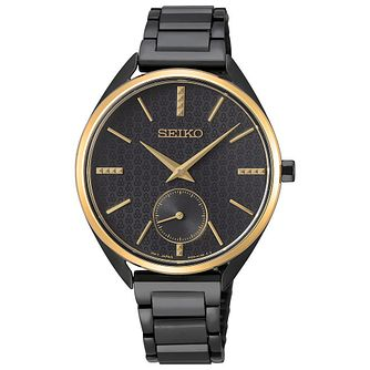 Seiko Ladies' Black Stainless Steel Bracelet Watch - Product number 5866642