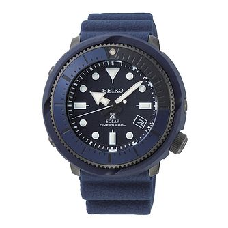 Seiko Prospex Solar Men's Blue Silicone Strap Watch - Product number 5866715