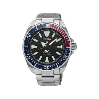Seiko Prospex PADI Samurai Stainless Steel Bracelet Watch - Product number 5866804