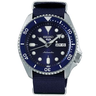 Seiko 5 Sports Men's Blue Fabric Strap Watch - Product number 5866898