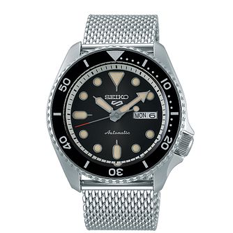 Seiko 5 Sports Men's Stainless Steel Mesh Bracelet Watch - Product number 5866944