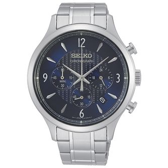 Seiko Chronograph Men's Stainless Steel Bracelet Watch - Product number 5867002