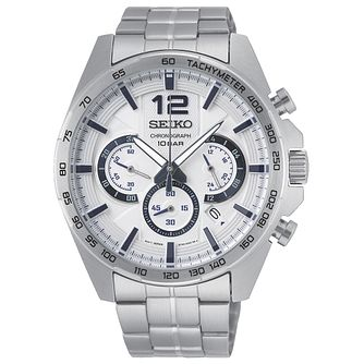 Seiko Chronograph Men's Stainless Steel Bracelet Watch - Product number 5867010