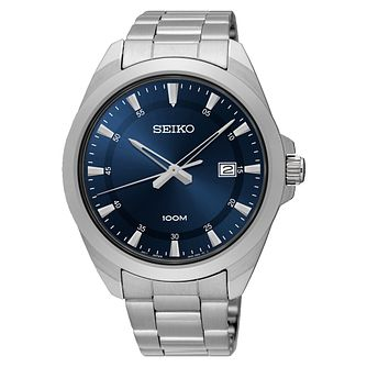 Seiko Men's Blue Dial Stainless Steel Bracelet Watch - Product number 5867061