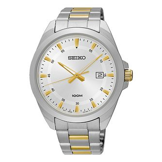 Seiko Men's White Dial Two Tone Bracelet Watch - Product number 5867088