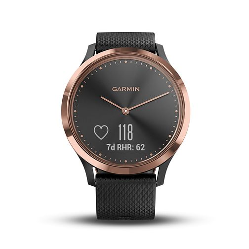 Garmin Vivomove HR Black Silicone Strap Hybrid Smartwatch - Product number 5867258