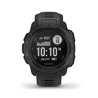 Garmin Instinct GPS Graphite Black Silicone Strap Watch - Product number 5867495