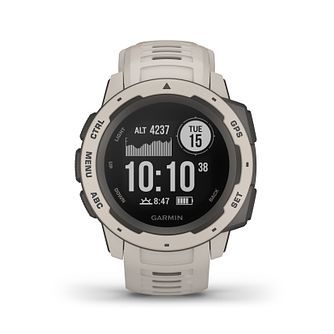 Garmin Instinct GPS Tundra Grey Silicone Strap Watch - Product number 5867509