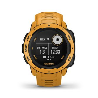 Garmin Instinct GPS Sunburst Yellow Silicone Strap Watch - Product number 5867525