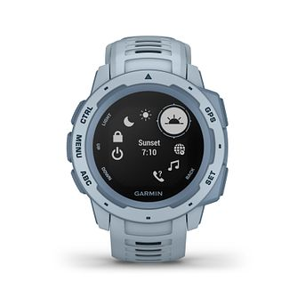 Garmin Instinct GPS Foam Blue Silicone Strap Watch - Product number 5867541
