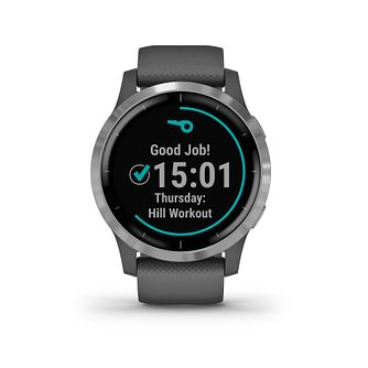 Garmin Vivoactive 4 Grey Silicone Strap Smartwatch - Product number 5867622