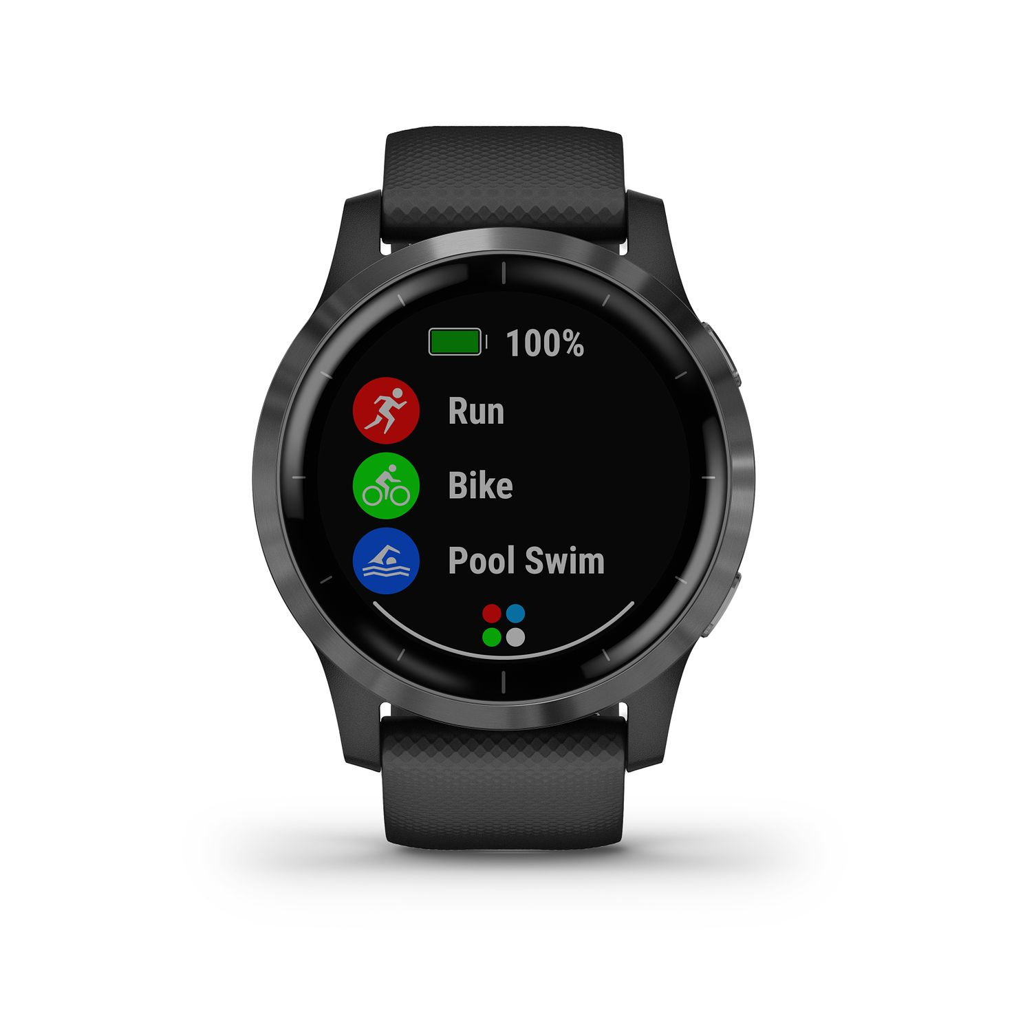 Garmin Vivoactive 4 Black Silicone Strap Smartwatch - Product number 5867630