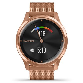 Garmin Vivomove Luxe Rose Gold Tone Bracelet Smartwatch - Product number 5867746