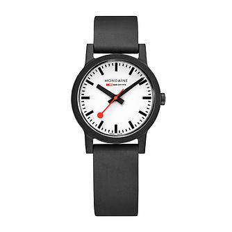 Mondaine Essence Ladies' Black Fabric Strap Watch - Product number 5867797
