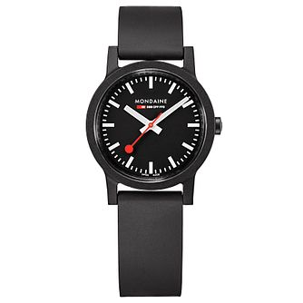 Mondaine Essence Ladies' Black Rubber Strap Watch - Product number 5867827