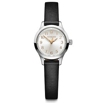 Victorinox Alliance XS Ladies' Black Leather Strap Watch - Product number 5867886