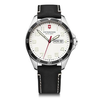 Victorinox Fieldforce Men's Black Leather Strap Watch - Product number 5867991